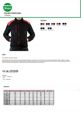 POLAR Premium /Bluza polarowa z haftem LOGO 10 szt (3)