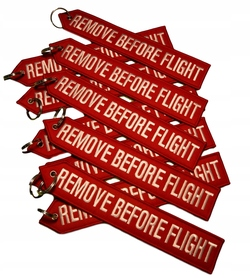 Brelok RBF Zawieszka REMOVE BEFORE FLIGHT XXL 25cm
