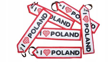 Brelok Zawieszka haftowana I Love Poland (1)