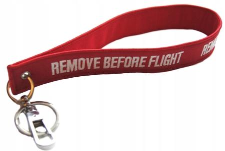 Smyczka RBF Zawieszka- REMOVE BEFORE FLIGHT smycz (1)