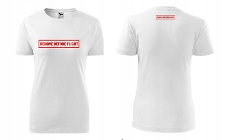 Koszulka REMOVE BEFORE FLIGHT damska (3)