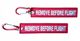 Brelok RBF - REMOVE BEFORE FLIGHT + karabińczyk
