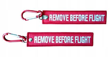 Brelok RBF - REMOVE BEFORE FLIGHT + karabińczyk (1)