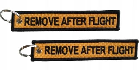 Brelok Zawieszka REMOVE AFTER FLIGHT żółto/czarny (1)