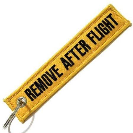 Brelok Zawieszka REMOVE AFTER FLIGHT Jakość- żółty (1)