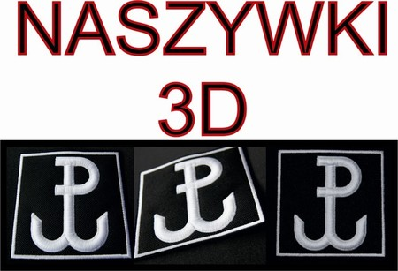 Naszywka POLSKA WALCZĄCA GROM - haft 3D JAKOŚĆ! (2)